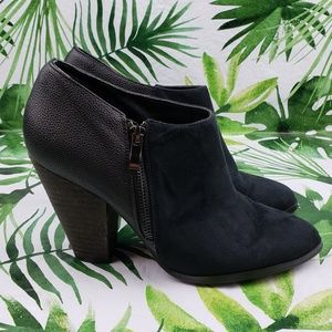 Charles David leather and suede ankle booties 9.5
